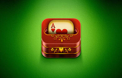 iOs Card Deck game icon by Cyberella74