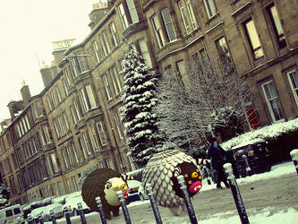 In the streets of Edinburgh on Christmas