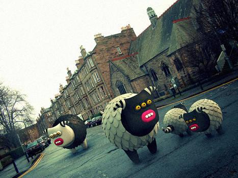 In the streets of Edinburgh