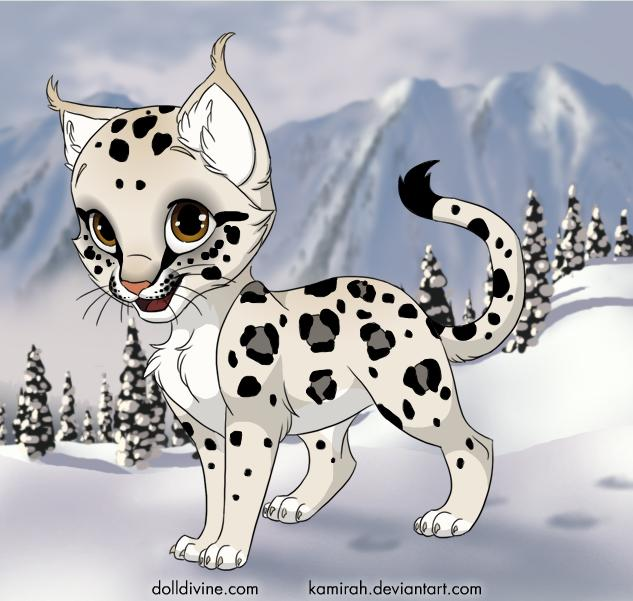 Cartoon snow leopard - photo#10