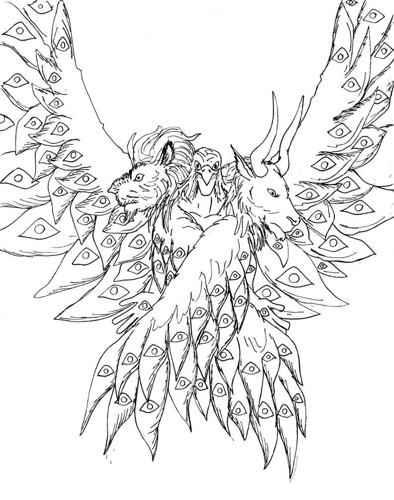Cherubim Bw By Avancna On Deviantart