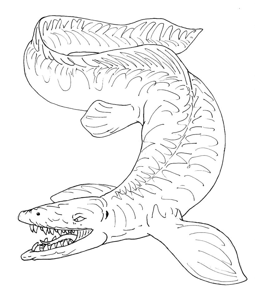 mosasaur coloring pages