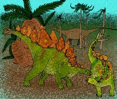 Stegosaurus stenops by avancna