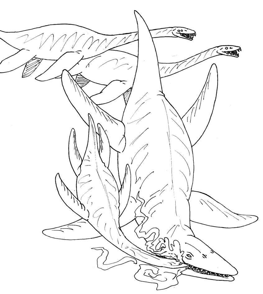 Giganotosaurus coloring pages coloring pages - Kronosaurus Coloring Page Sketch Coloring Page