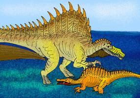 Spinosaurus aegypticus by avancna