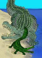 Deinosuchus  hatcheri by avancna