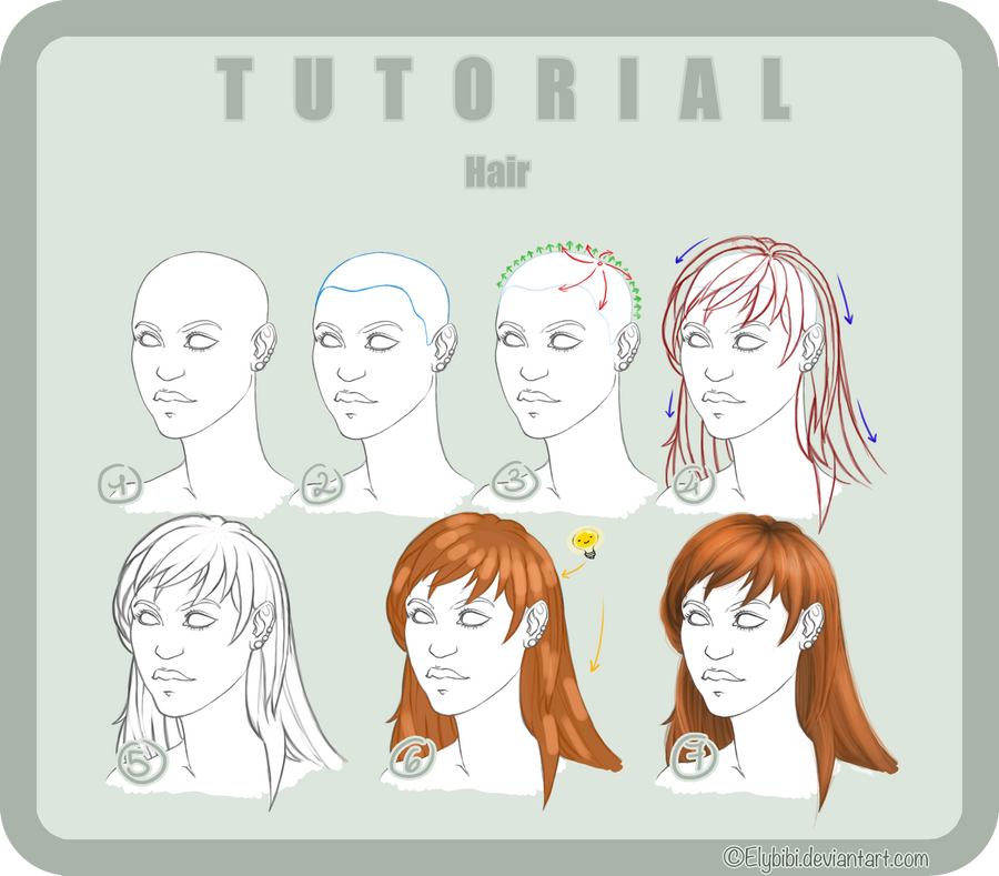 Tutorial Photoshop n6 HAIR by ElyBibi