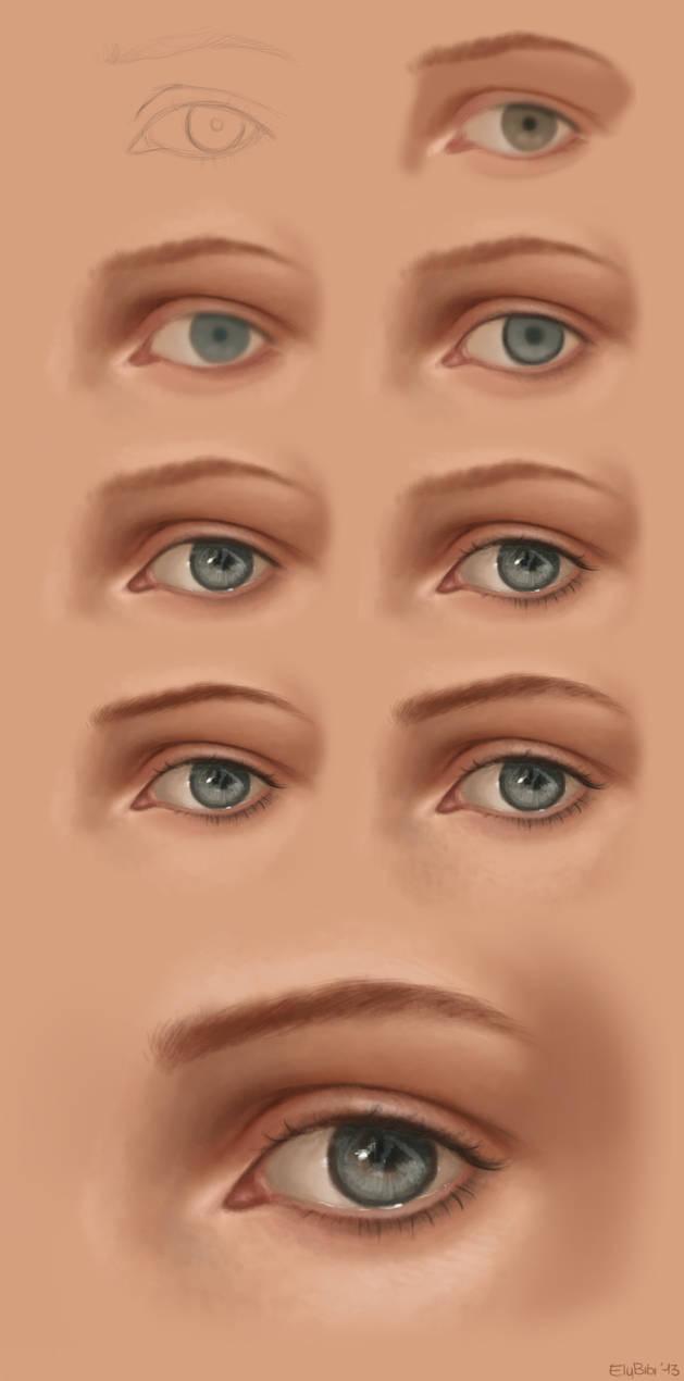 NEW - Eye step by step. by ElyBibi
