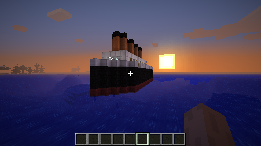 how to make minecraft titanic