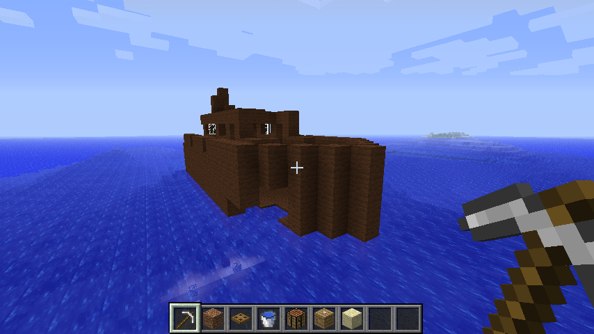 how to make a minecraft titanic sink