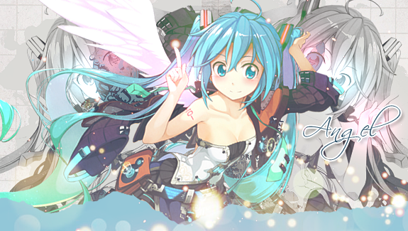 hatsune miku angel wallpapers - photo #15