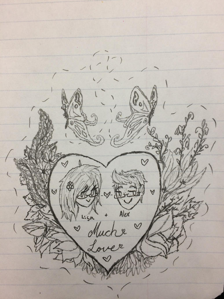 The sketch of a Valentine for my Lovely by Scarletcat1