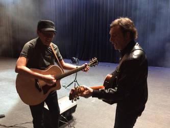 Rey Valera and David Pomeranz just jamming! by Scarletcat1