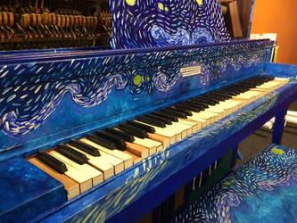 Starry Night Piano by Scarletcat1