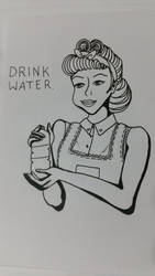 Drink water inking by RadioactiveCami