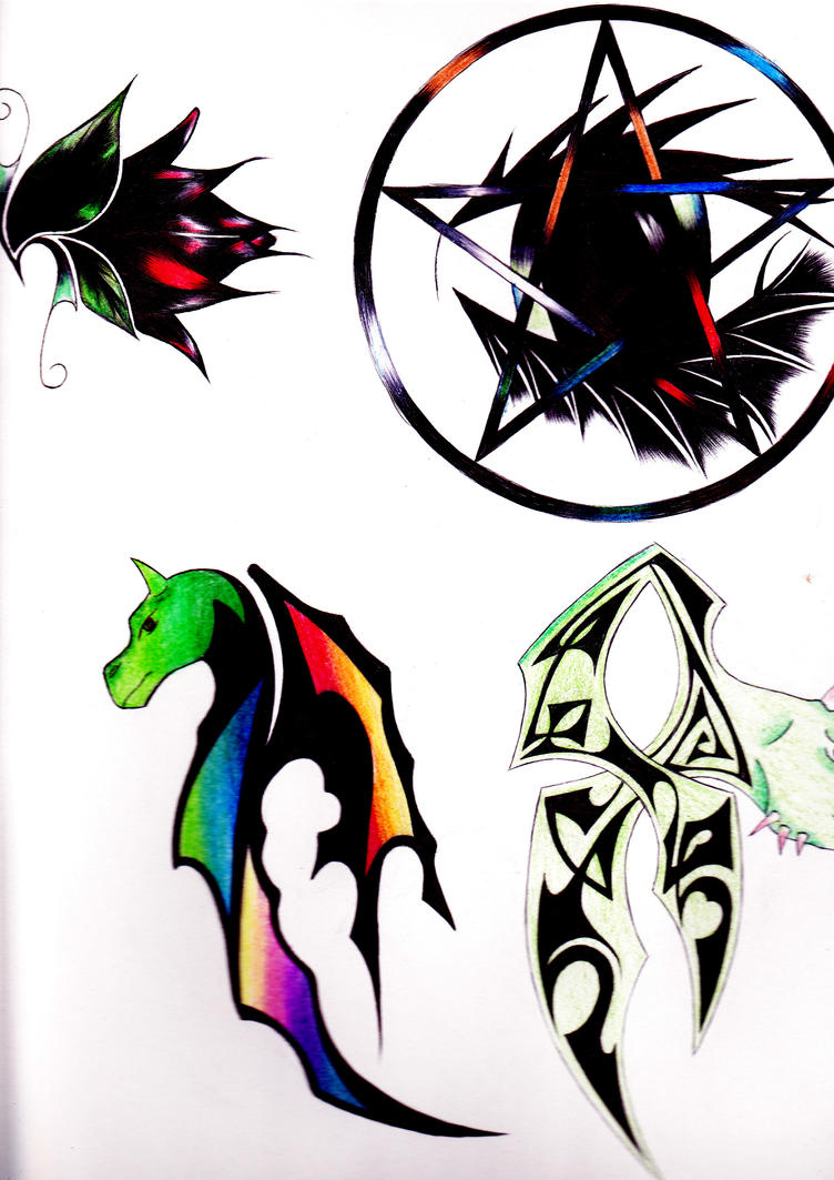 coloured tattoo designs 2 by soul reaper1990 on deviantart. Black Bedroom Furniture Sets. Home Design Ideas