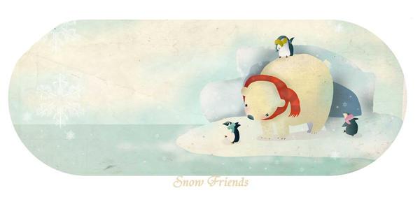 Snow Friends - estygia by childrensillustrator