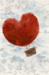 the heart air balloon - hearte by childrensillustrator