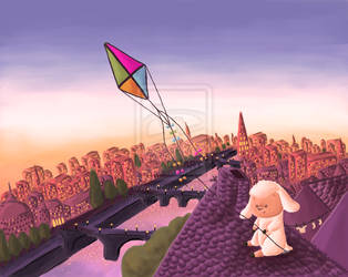 On The Roof- parochena by childrensillustrator