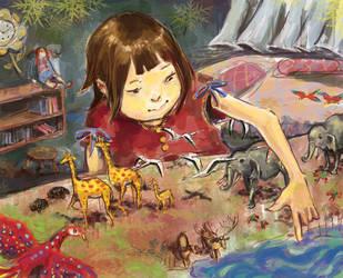 hidden garden- yakkingyetis by childrensillustrator