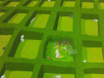 a garden amids- enonea by childrensillustrator