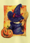 Nell80 - Trick-or-Treating by childrensillustrator