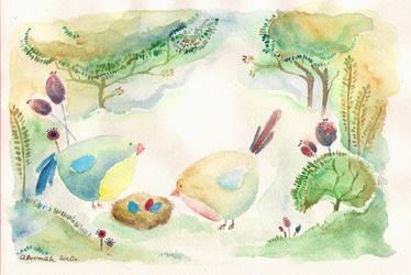birdhouse. - Muka by childrensillustrator