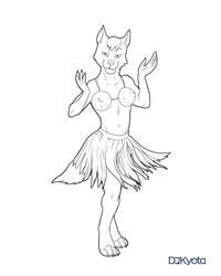 Commission: Hula Wuff!