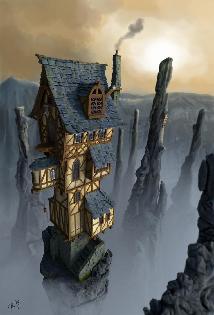 Cliff Tower by ChristopherReality
