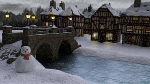Christmas village scene by ChristopherReality
