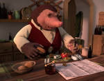 Breakfast with Moley. - The Wind in the Willows by ChristopherReality