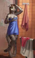 Lauren's day - 3 - shower