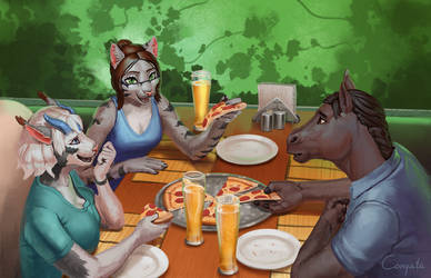 Lauren's day - 10 - Pizza with friends by Conqista
