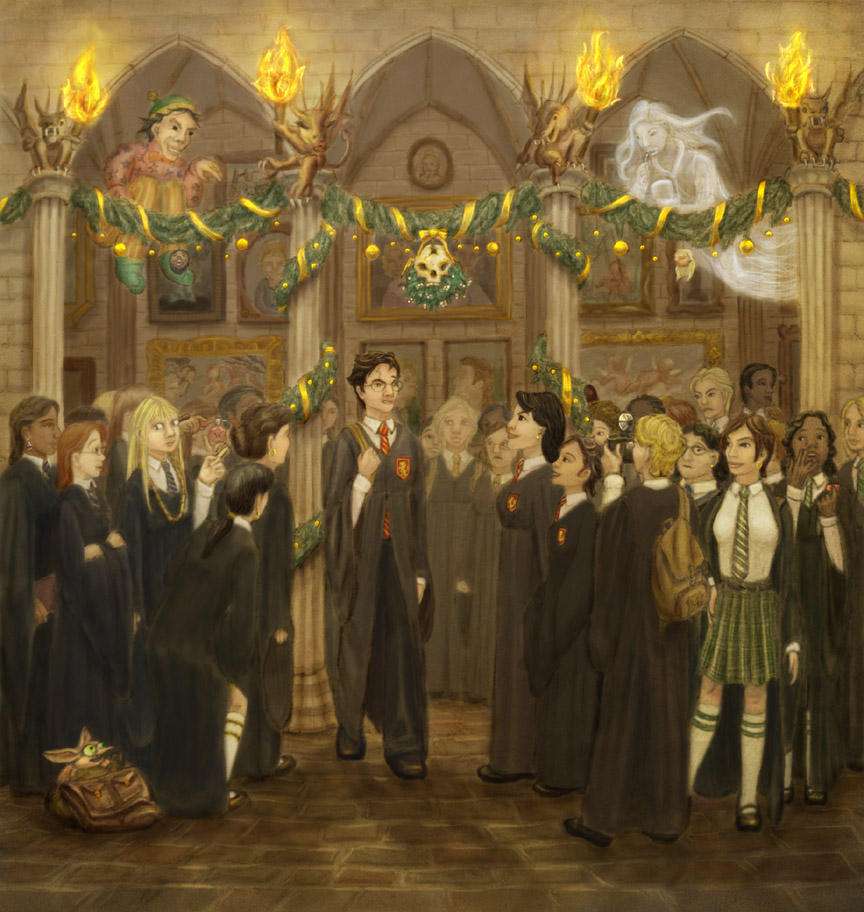 Popular Wallpaper Harry Potter Christmas - hogwarts_christmas___hbp_by_cambium  Snapshot_452392.jpg