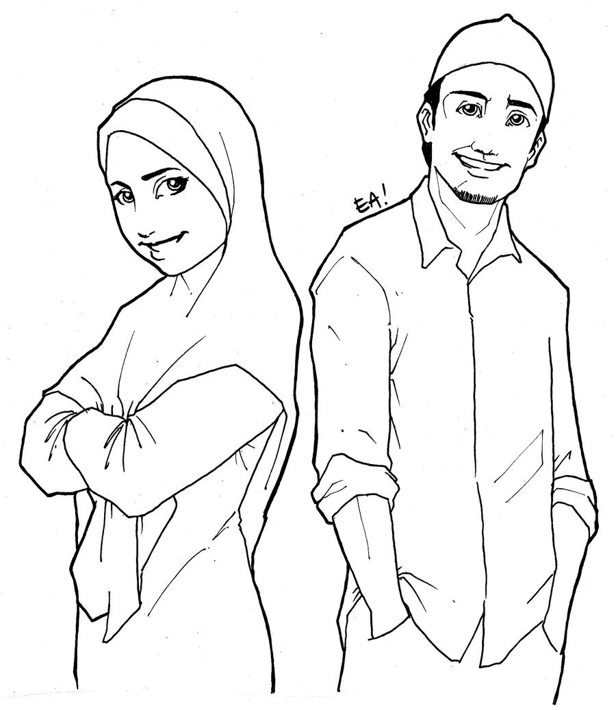 Muslim man and woman by agent-ea on DeviantArt