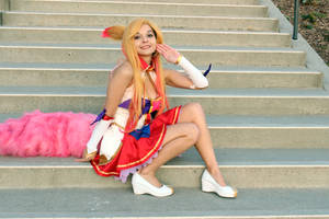 Star Guardian Ahri cosplay by lilletsy