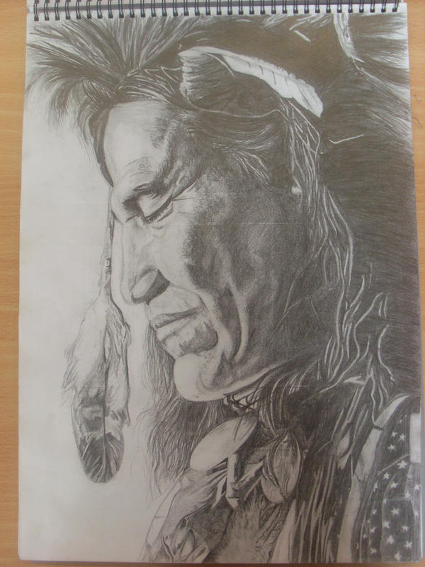 Native american pencil drawing by the artist 89