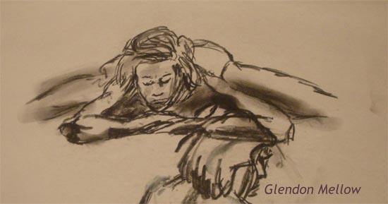 Life Drawing - Female 3 by GlendonMellow