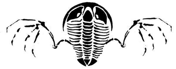 Flying Trilobite Tattoo Design