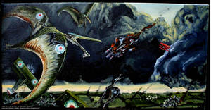 Mjr. Barker + Pterosaur Squad