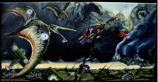 Mjr. Barker + Pterosaur Squad by GlendonMellow