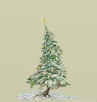 Krismas tree sketch by GlendonMellow