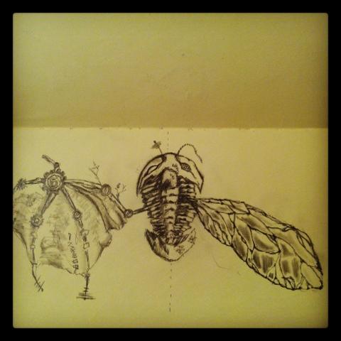 Hybrid Flying Trilobite by GlendonMellow