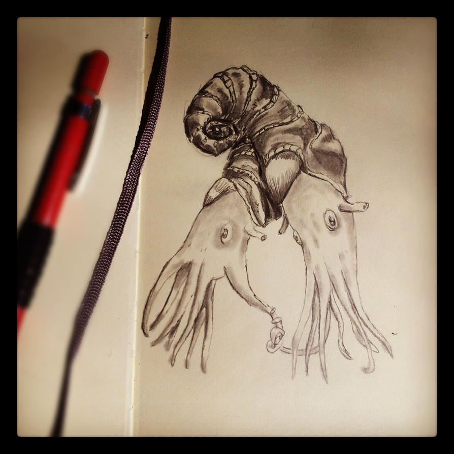 2-Headed Ammonite by GlendonMellow