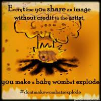 PSA: Don't Make Wombats Explode by GlendonMellow