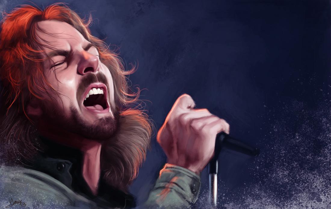 Eddie Vedder Gallery: Speed Painting: Eddie Vedder By FrankCP On DeviantART
