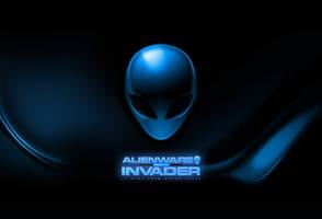 Blue alienware invader colorful by darkangelkrys