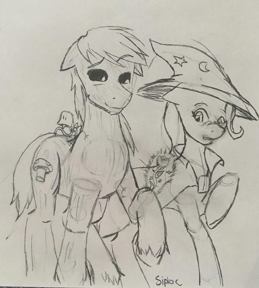 Aeron and Trixie by Sipioc
