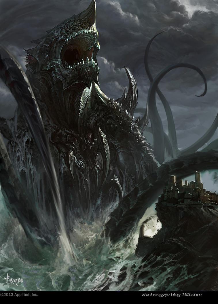 Giant sea monsters art - photo#36