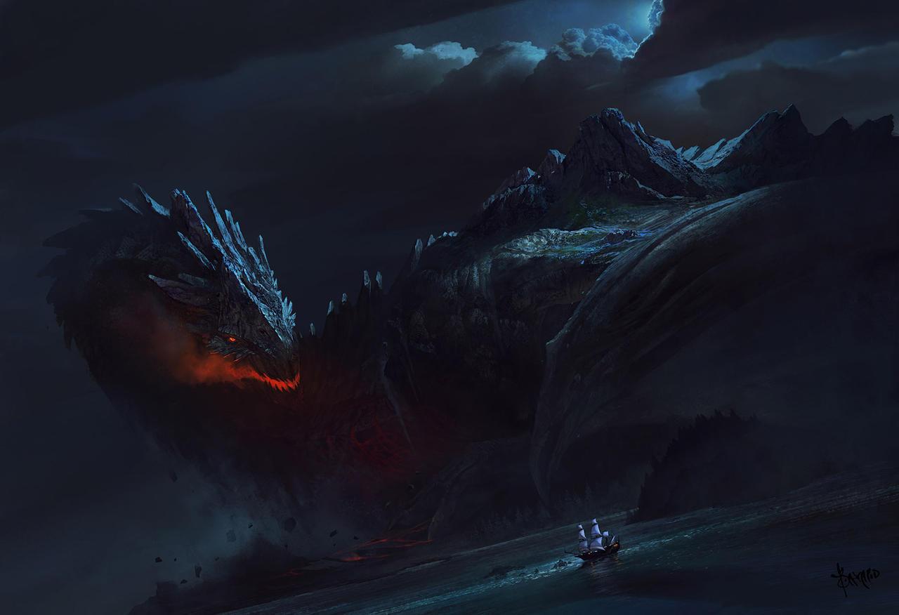 Dragon Island by bayardwu